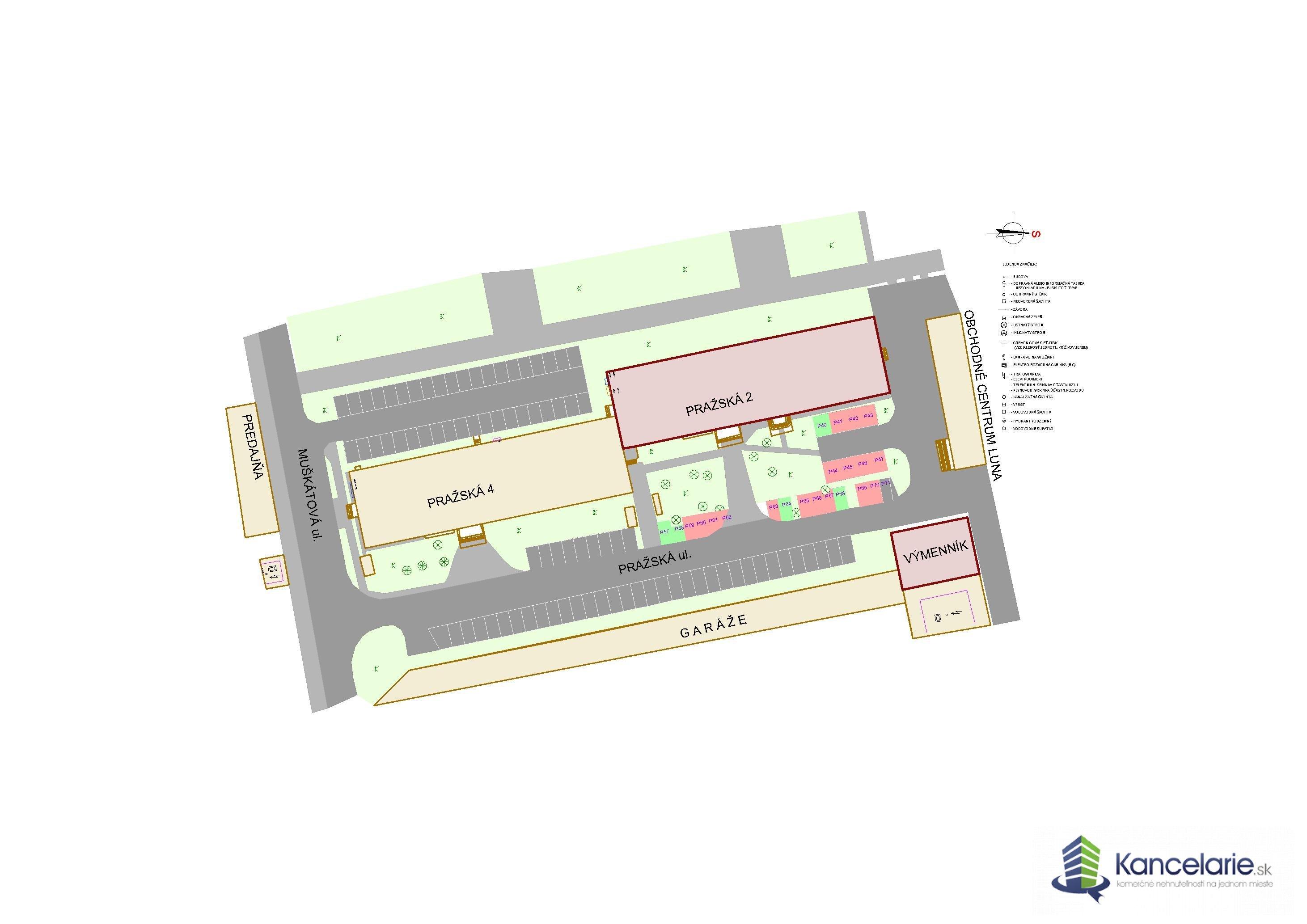 PODNIKATEĽSKÉ CENTRUM, Kancelárske priestory, Pražská 2, Košice