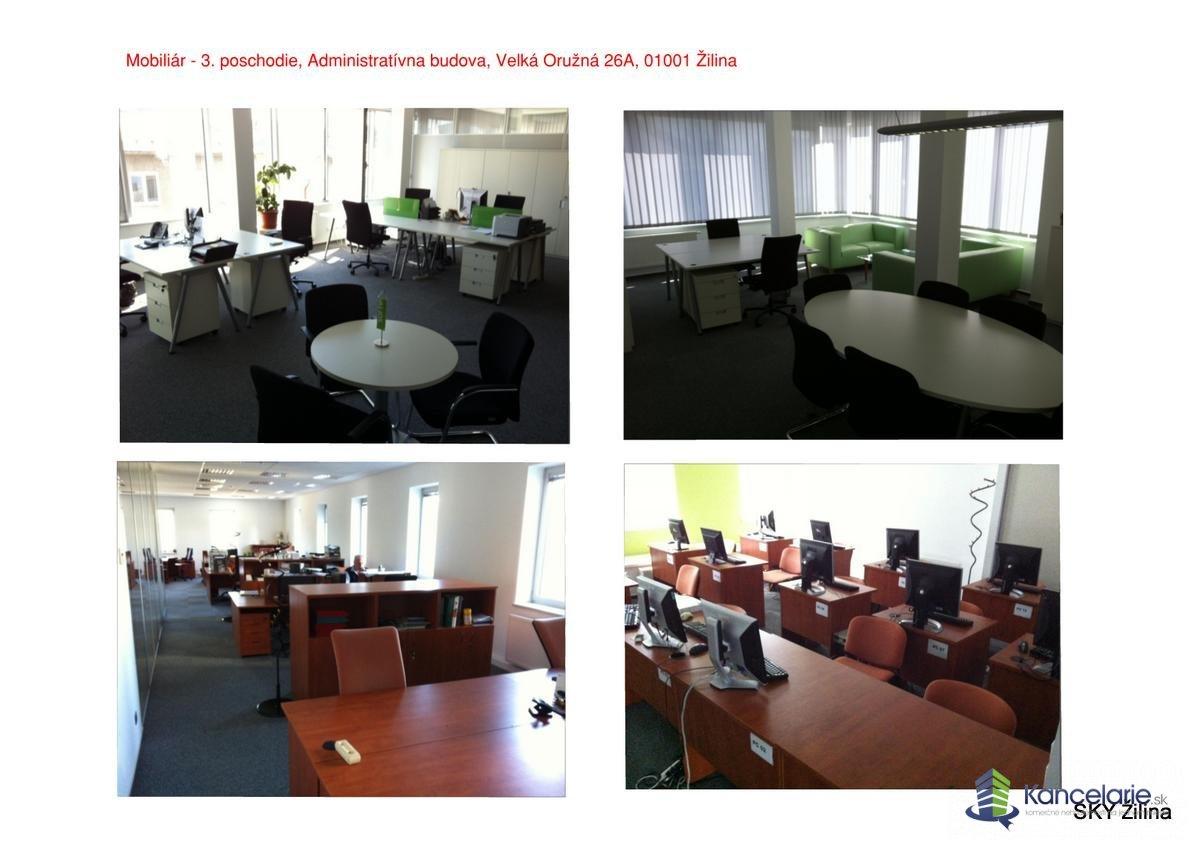 Administratívna budova, 3. posch.-časť, 4.posch. časť - plochy, Veľká Okružná 26A, Žilina