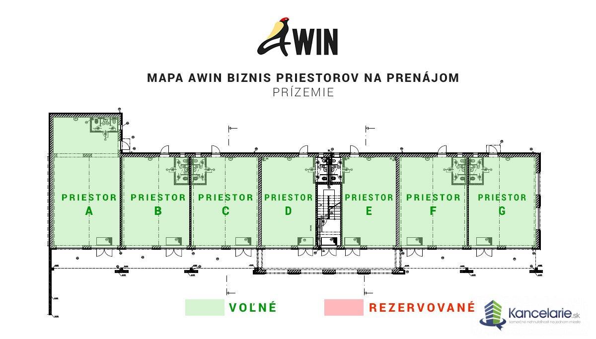 AWIN BIZNIS CENTRUM, Biznis priestory, Fraňa Kráľa N/A, Michalovce